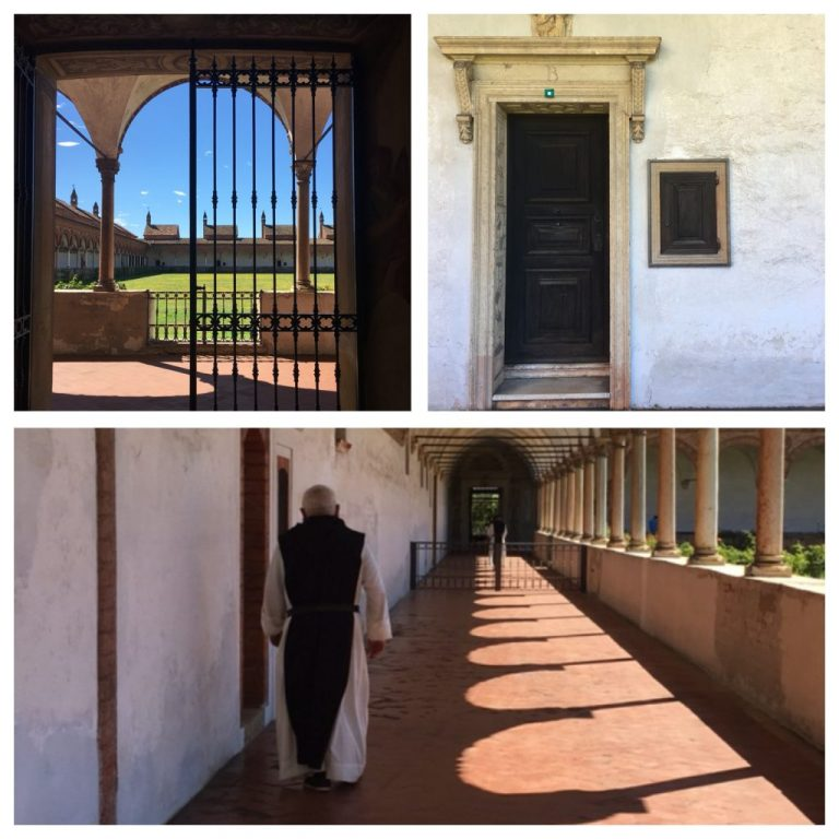 Grand cloister and a cell