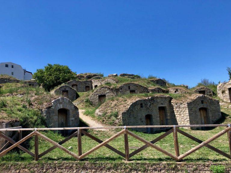 Palmenti at the entrance of Pietragalla