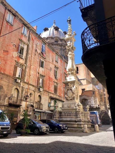 The Obelisk dedicated to San Gennaro, patron of  Naples