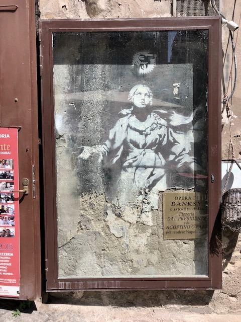 Madonna by Banksy in Naples